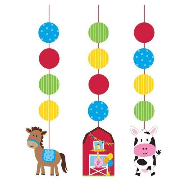 Pack de 3 Elementos Decorativos Animales de Granja