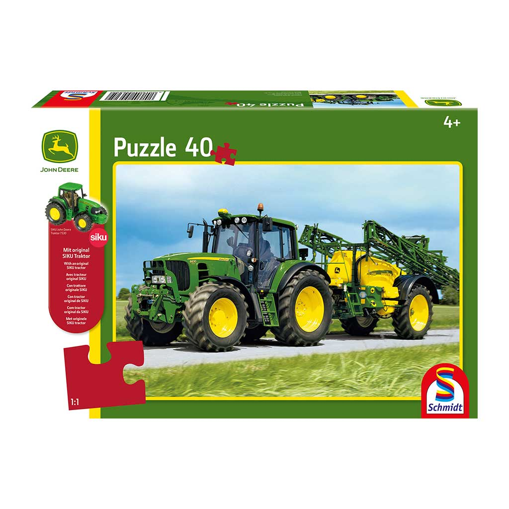 Puzzle de Tractor John Deere 6630 con Tractor Siku