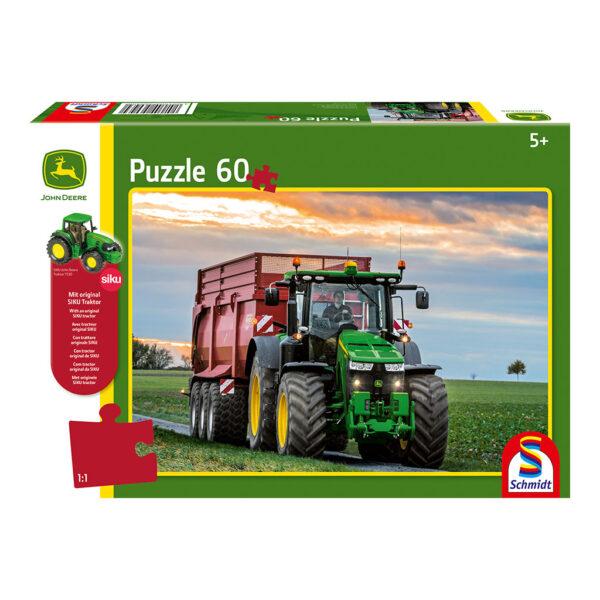 Puzzle de Tractor John Deere 8370R con Tractor Siku