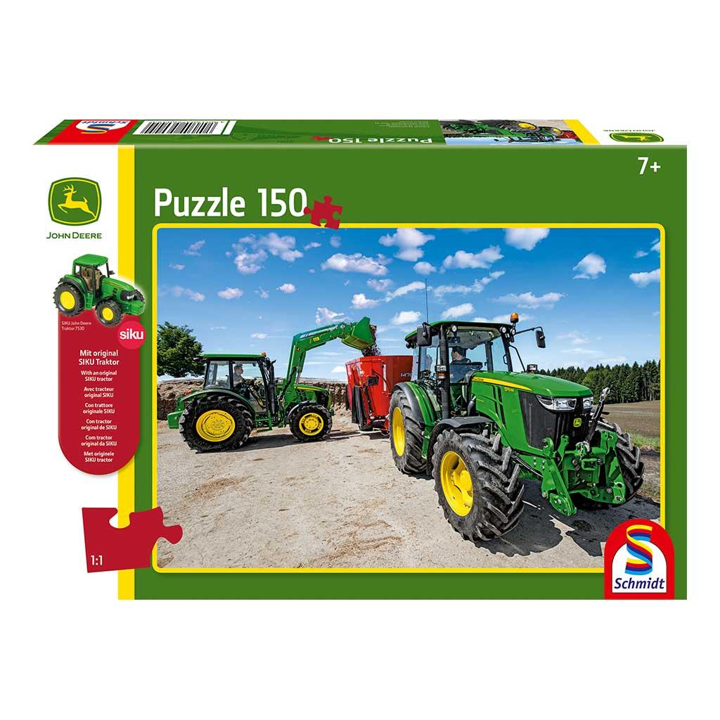 Puzzle de Tractor John Deere Serie 5M con Tractor Siku
