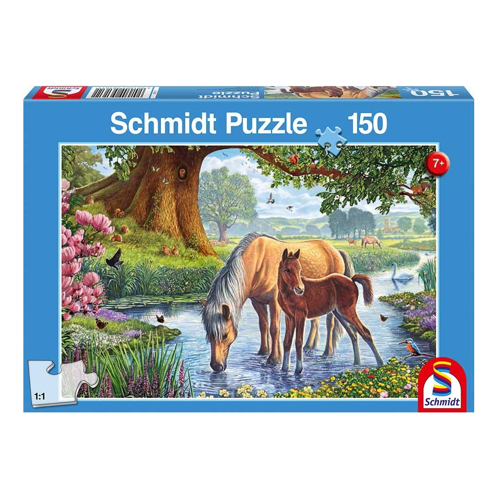 Puzzle Caballos en el Río