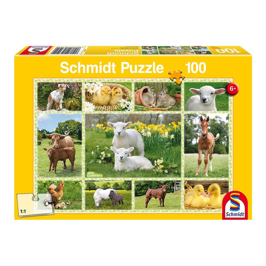 Puzzle Animales Bebé de Granja