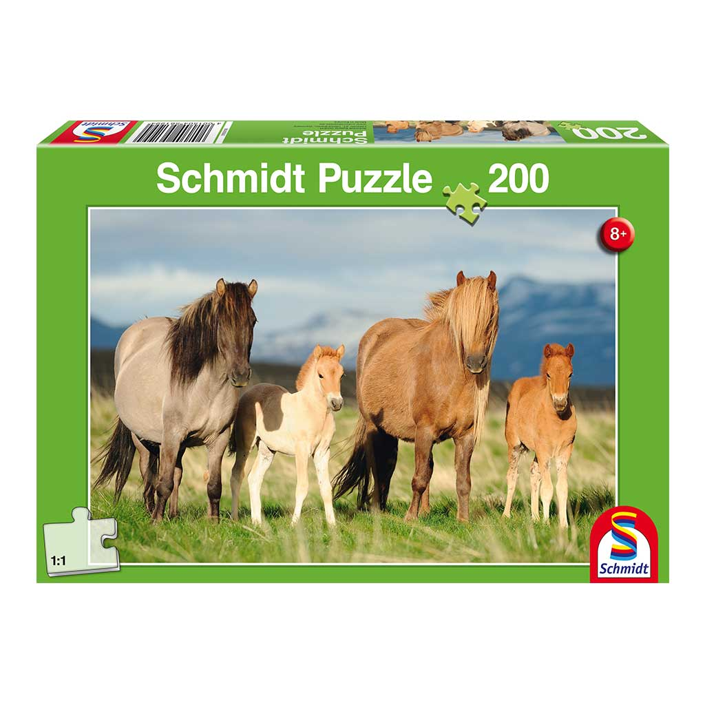 Puzzle Familia de Caballos