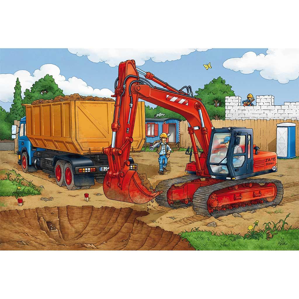 Puzzles Trabajos de Construcción 3x24 - 1