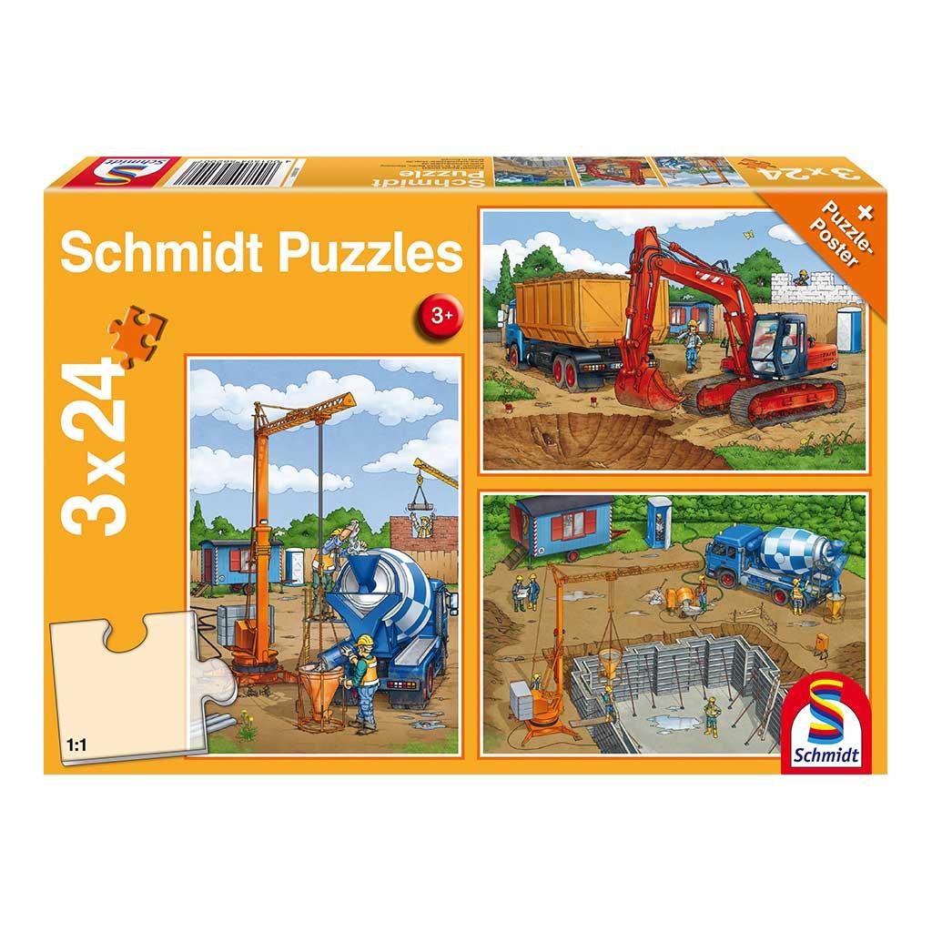 Puzzles Trabajos de Construcción 3x24