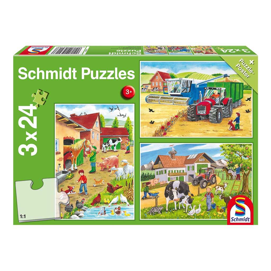 Puzzles Vida en La Granja 3x24