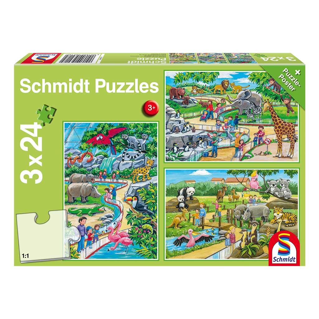 Puzzles Aventura en el Zoo 3x24