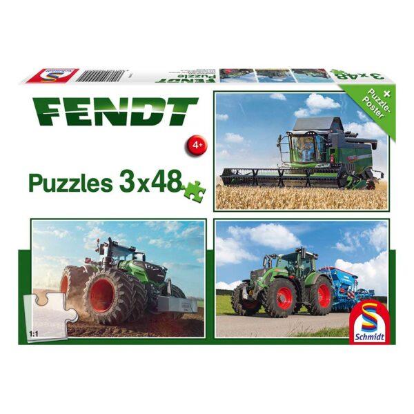 Puzzles Tractor Fendt 1050 Vario 3x48