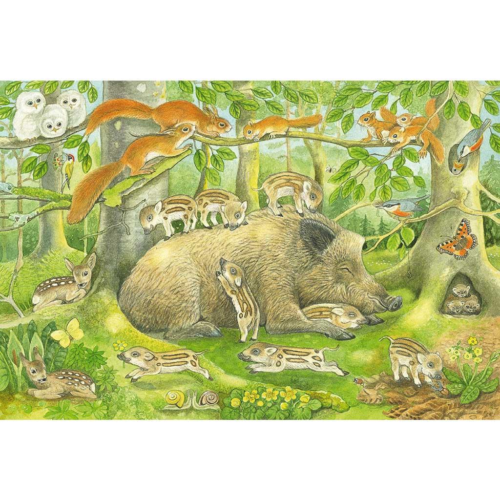Puzzles La Familia de los Animales 3x48 - 1