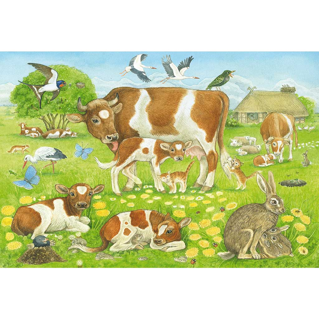 Puzzles La Familia de los Animales 3x48 - 3