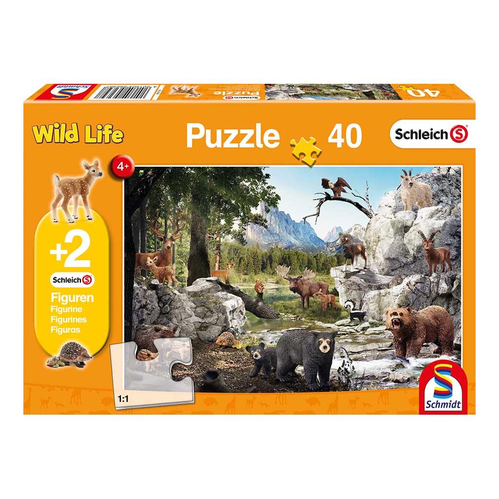 Puzzle Schleich Diversión en el Bosque
