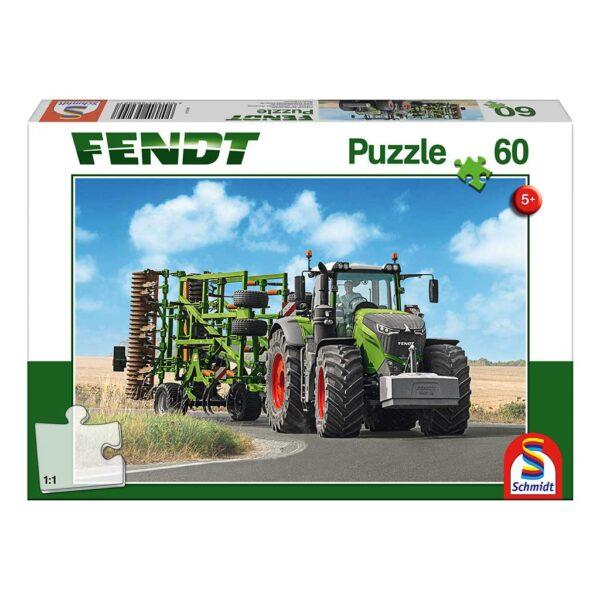 Puzzle Tractor Fendt 1050 Vario con Cultivador Amazone
