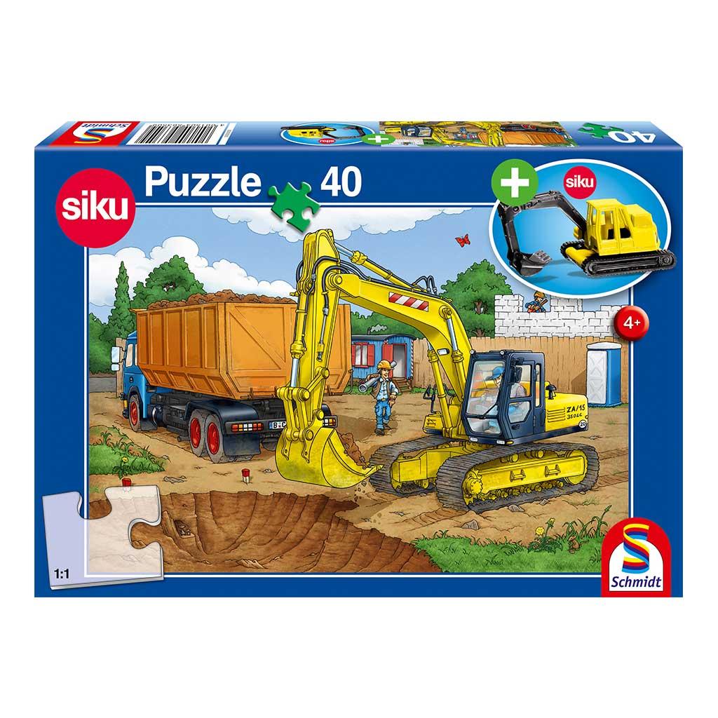 Puzzle Manos a la Obra con Excavadora Siku