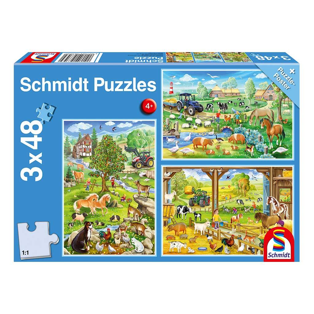 Puzzles Aventuras en la Granja 3x48