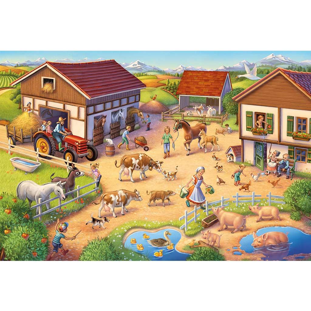 Puzzle de Granja y Animales de Juguete - 2