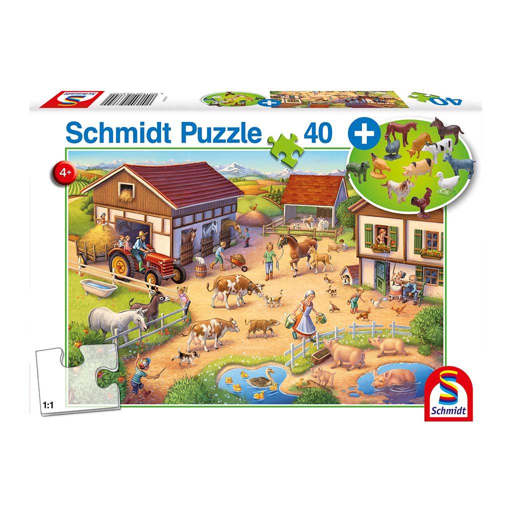 Puzzle de Granja y Animales de Juguete