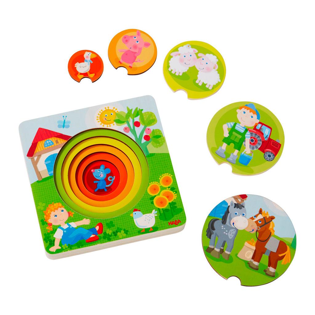 Puzzle Infantil El mundo de la Granja - 1