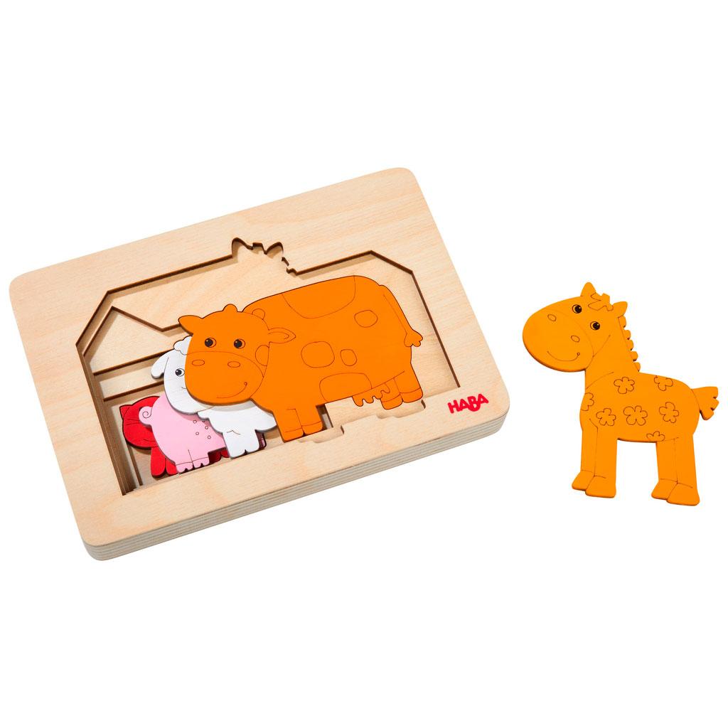 Puzzle Infantil Animales de Granja - 1
