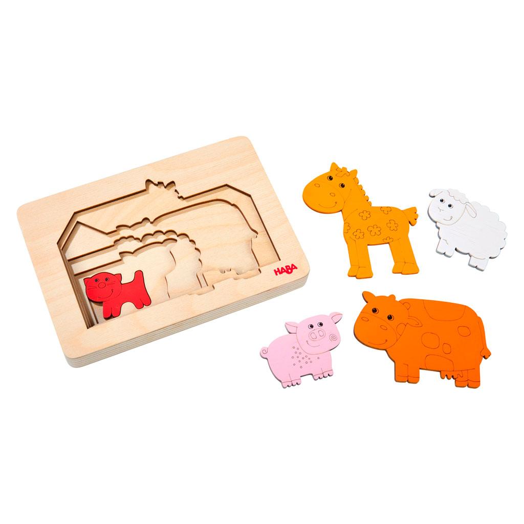 Puzzle Infantil Animales de Granja