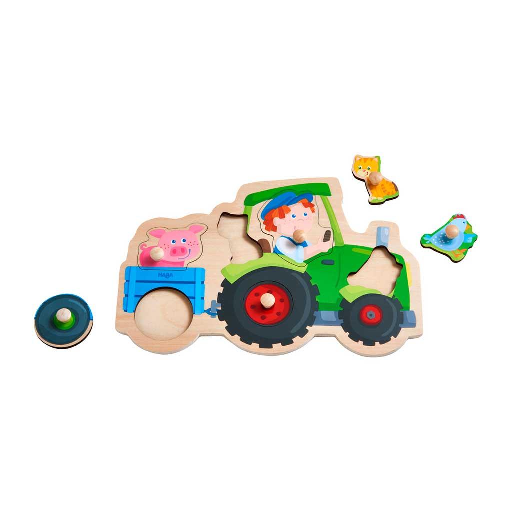 Puzzle Infantil Viaje en Tractor - 1