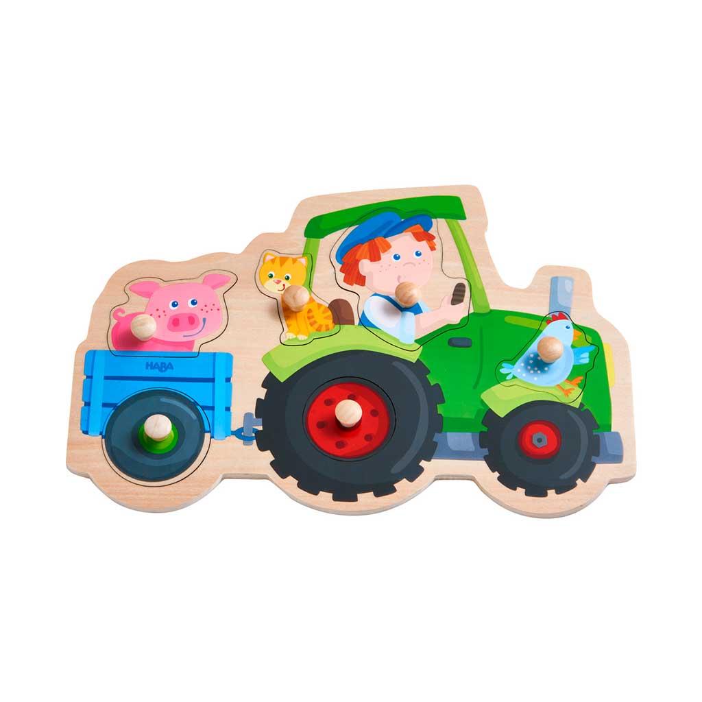 Puzzle Infantil Viaje en Tractor