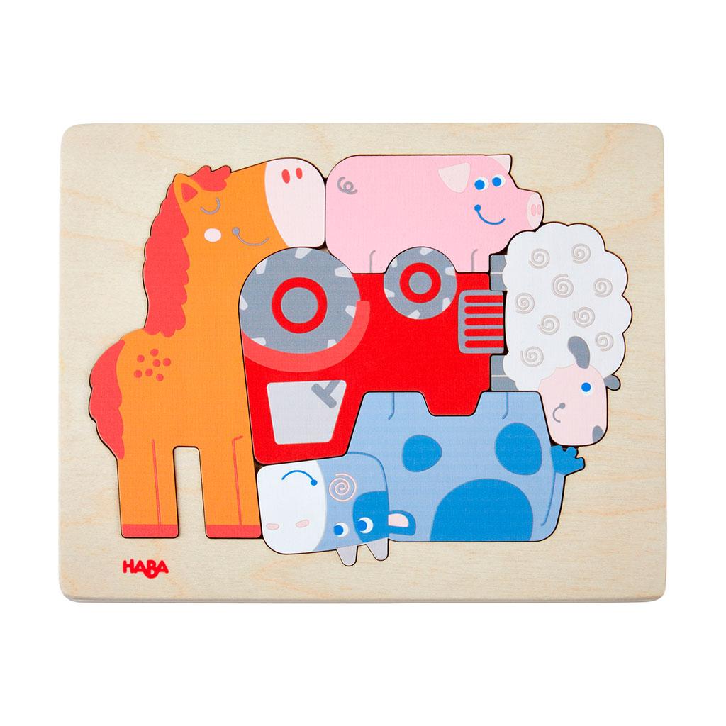 Puzzle Infantil Jaleo de Animales - 1