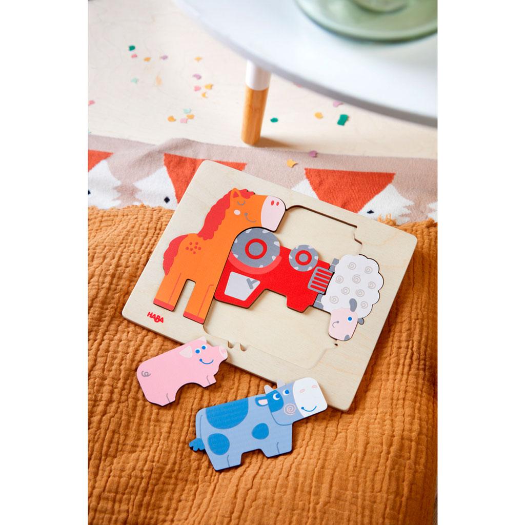 Puzzle Infantil Jaleo de Animales - 2