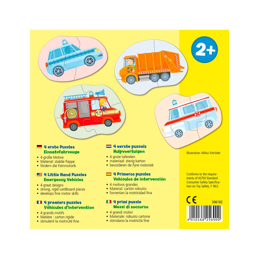 Mis Cuatro Primeros Puzzles Vehículos de Emergencia - 1