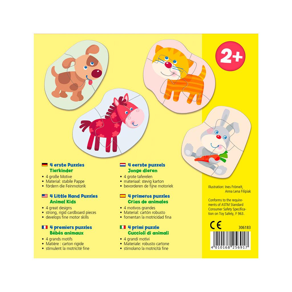 Mis Cuatro Primeros Puzzles Crías de Animales - 1
