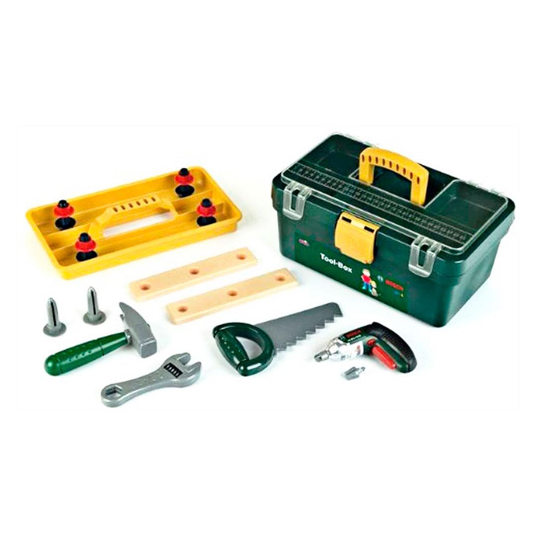 Caja de Herramientas de Juguete con Accesorios Bosch