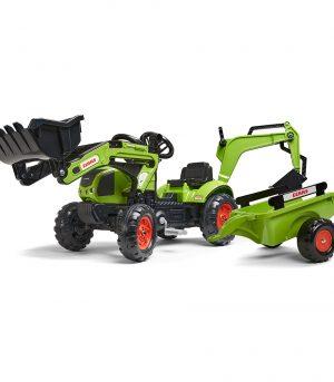 Tractor de pedales Claas Arion 410 con pala