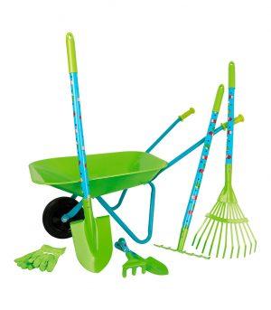 set-herramientas-jardineria-carretilla-niños